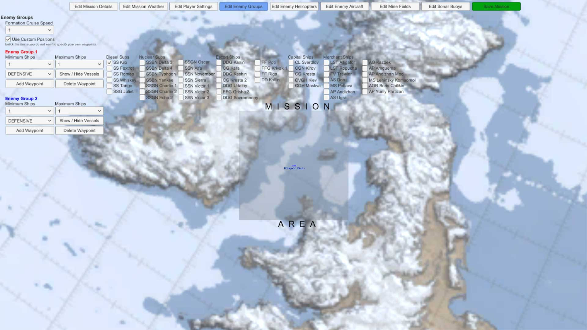 Cold waters online mission builder freerunsca Gallery